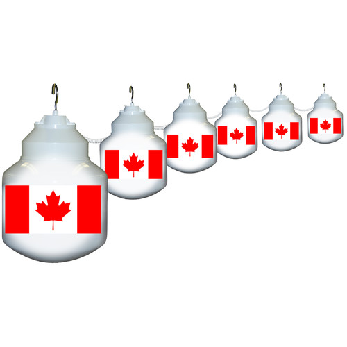 Polymer Products 6-Light Canadian Flag String Lights by Polymer Products