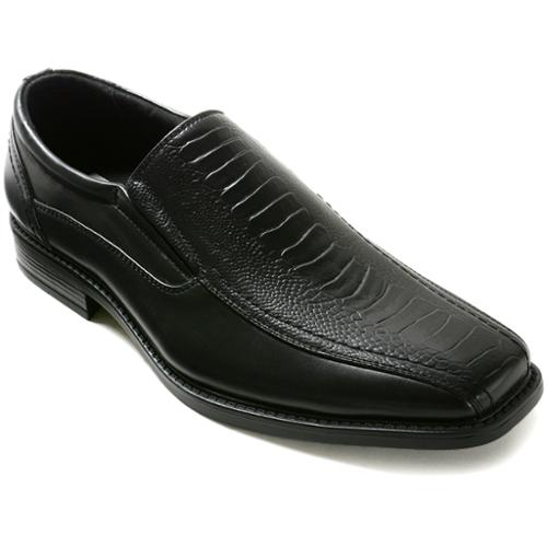 AlpineSwiss Chillon Mens Dress Shoes Slip On Loafers RUNS SMALL ORDER 2 SIZES UP Black Size 11