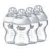Tommee Tippee Closer to Nature Baby Bottles – 9oz, Clear, 4pk