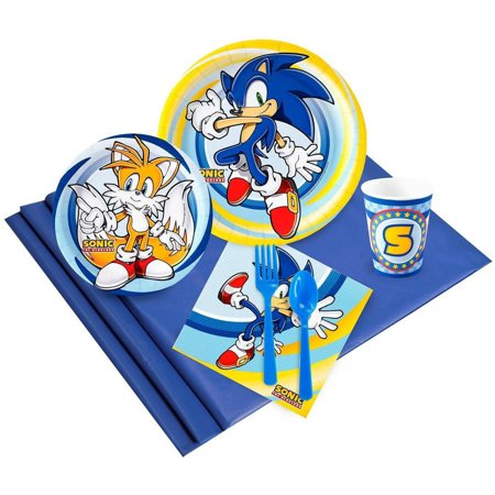 Sonic the HedgeHog 16-Guest Party Pack - Sonic The Hedgehog Birthday Party