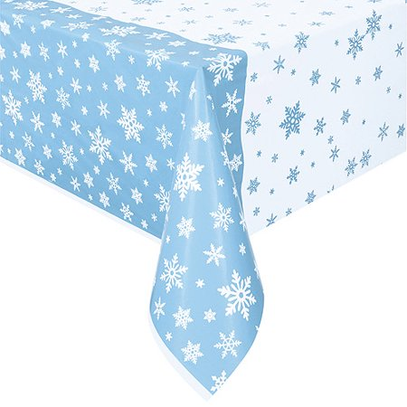 (2 pack) Snowflakes Holiday Plastic Tablecloth, 84 x 54 in for $<!---->