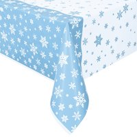 Snowflakes Plastic Party Tablecloth, 84 x 54in