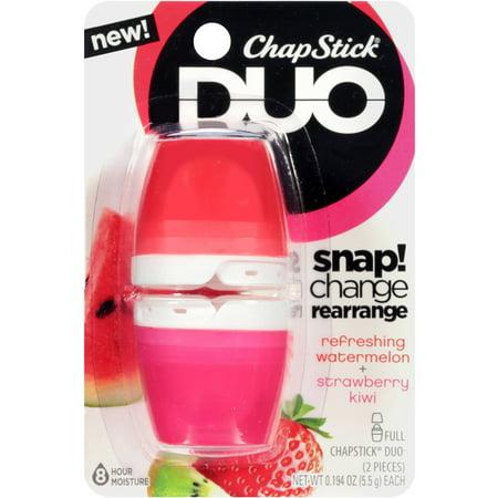 ChapStick Duo Lip Balm, Refreshing Watermelon and Strawberry Kiwi