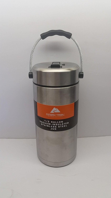 Ozark Trail 1/2 Gallon Vacuum Insulated Stainless Steel Tumbler/ Jug