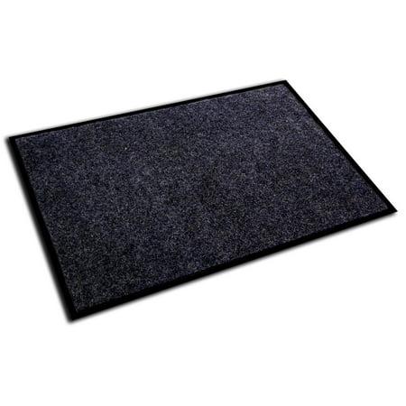 "Doortex Ribmat | Indoor Entrance Mat | Charcoal Gray | Rectangular | Size 36"" x 48"""