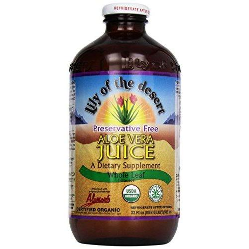 Lily Of The Desert Organic Aloe Vera Juice Whole Leaf - 32 Fl Oz (10 Pack)