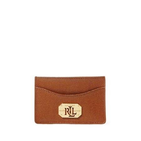 New Lauren Ralph Lauren Newbury Saffiano Mini Card Cas Lauren (Tan Mini Handbag)