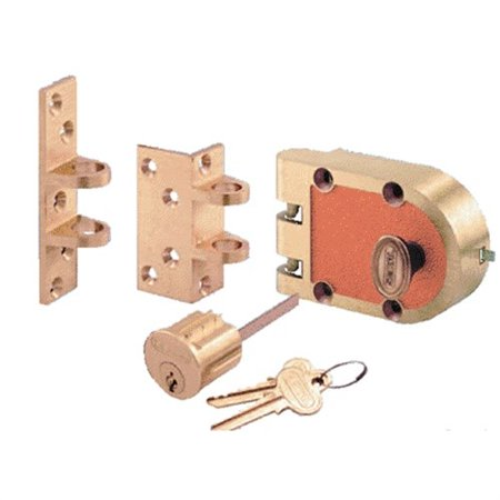 Se15326 Segal 667f Jimmy Proof Deadlock Single Cylinder Lock Set, Bronze (Us10)