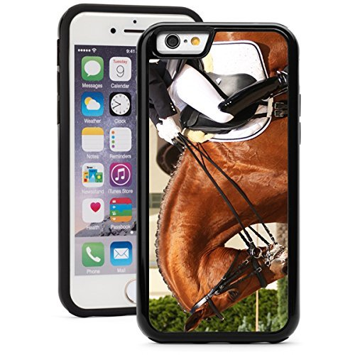 Apple iPhone 5c Shockproof Impact Hard Soft Case Cover Dressage Horse And Rider (Black),MIP