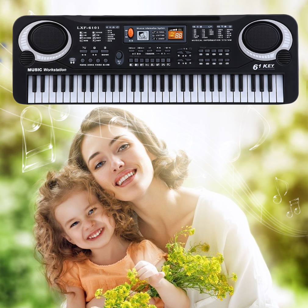 61 Key Children Electronic Digital Keyboard Electric Organ With Microphone by