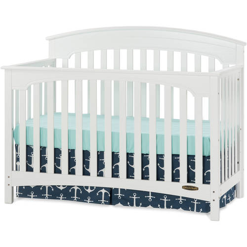 Child Craft Stanford 4-in-1 Convertible Crib Matte White
