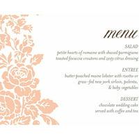 product image classic floral standard menu card