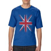 Mens and Big Mens Union Jack British Flag T-Shirt, up to size 3XLT
