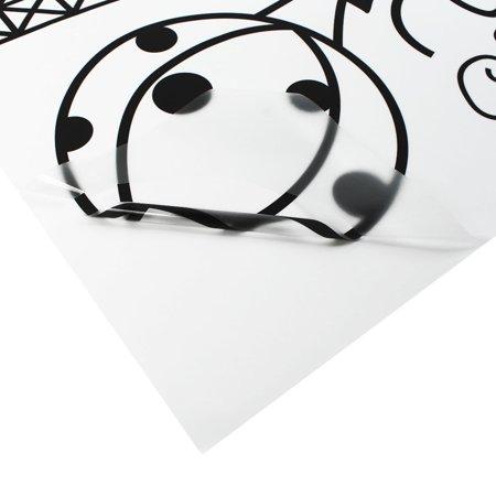 Home Decor amovible Designable PVC Noir DIY Sticker mural Motif Tour Eiffel Blanc 60 x 90 cm - image 6 de 8