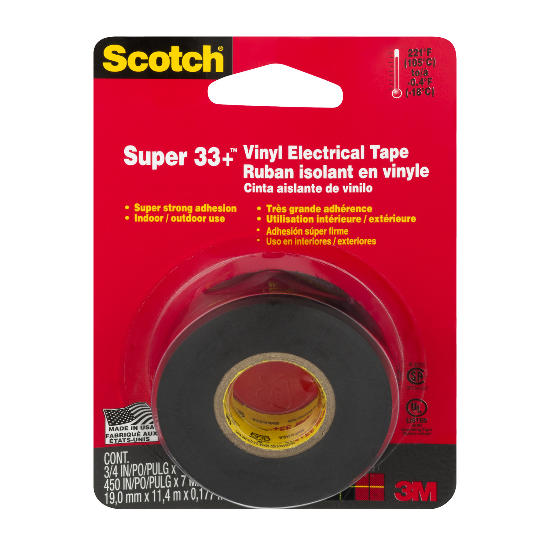 Scotch Vinyl Electrical Tape, 1.0 CT