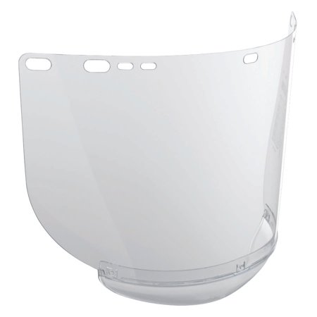 """Jackson Safety F20 High Impact Face Shield (29062), Polycarbonate, 8"""" x 15.5"""" x 0.04"""", Clear, Face Protection, Unbound, 12 Shields / Case"""