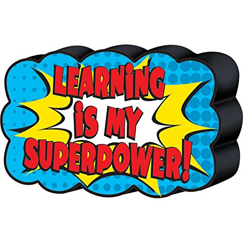 Superhero Magnetic Whiteboard Eraser, 4 x 2-1/2 x 7/8 By Teacher Created Resources From USA