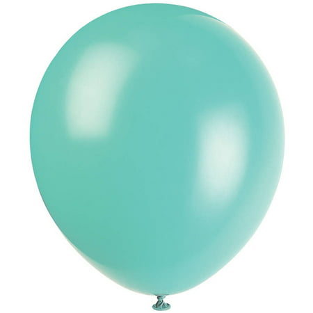 Latex Balloons, Sea Foam Aqua, 12in, 10ct (Balloons Nearby)