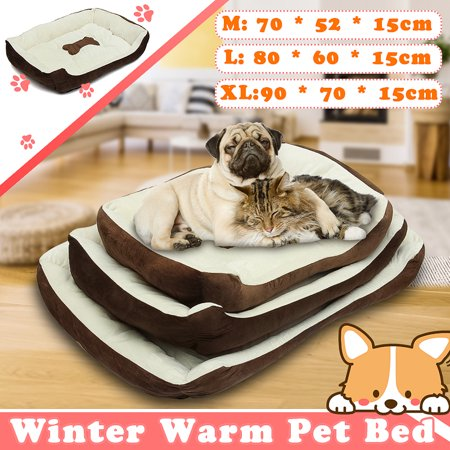Pet Dog Bed Cushion Warm Cozy Bed House Winter Plush Puppy Pad Mat Fashion Sofa Shape, Size:M/L/XL