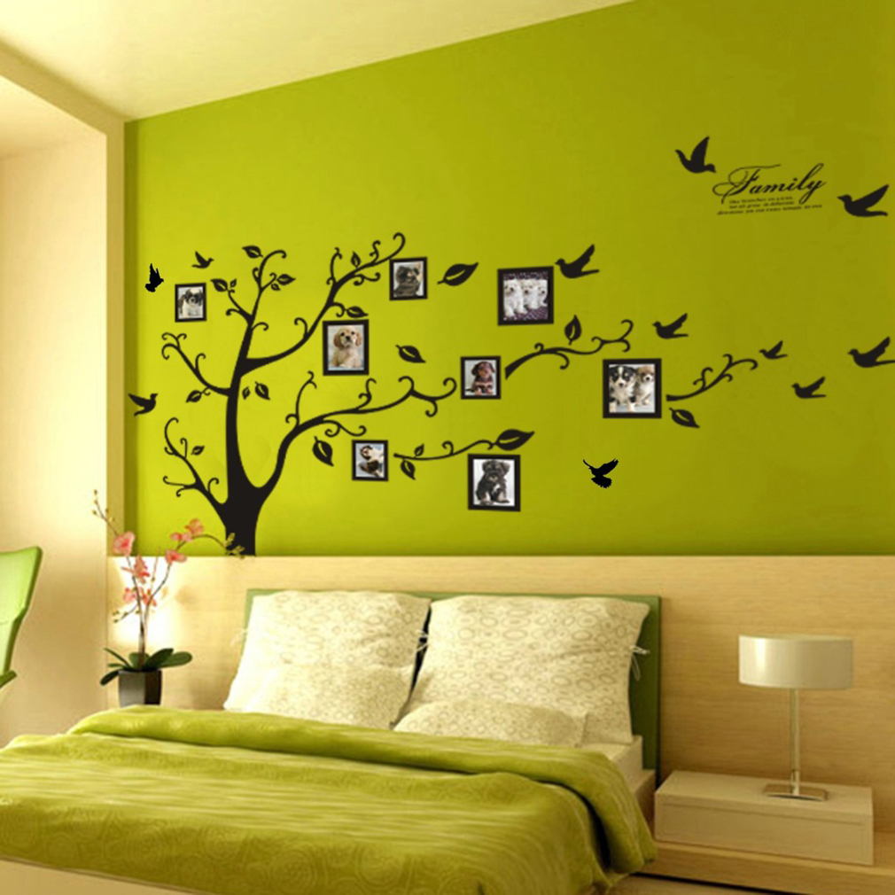 Beautiful Tree Leaf Pattern Window Living Room Decal Wall Decor ...