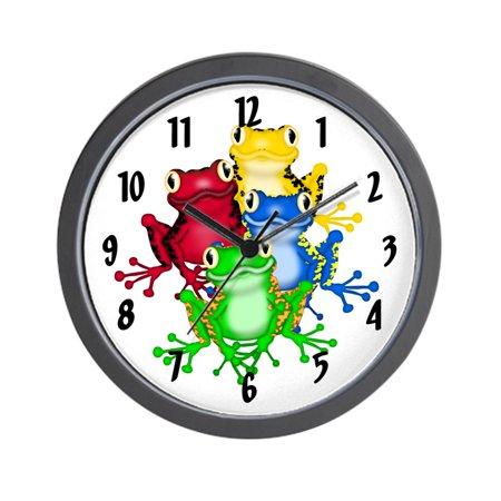 Frog Clock (CafePress - Rainbow Of Frogs - Unique Decorative 10