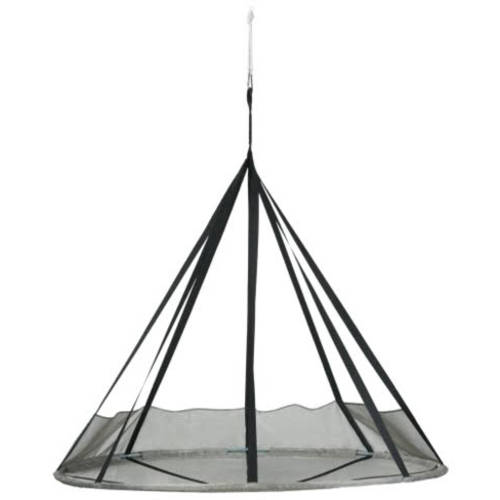 FlyingSaucer Hanging Chair with Bird and Bug Net, Silver