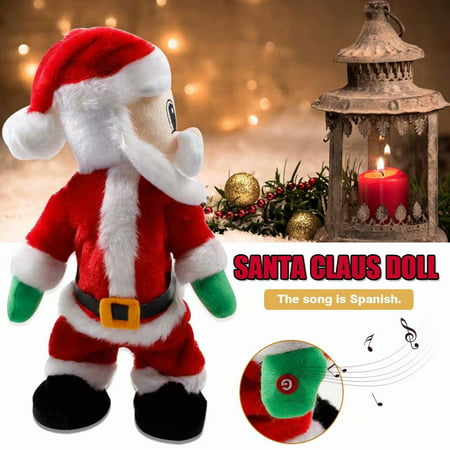Akoyovwerve Christmas Electric Santa Claus Dancing Music Doll Toys Xmas Party Baby Kids Gifts