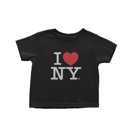 Large I Love Ny Kids Tee Black Screen Printed Heart - I Love Ny Pajamas