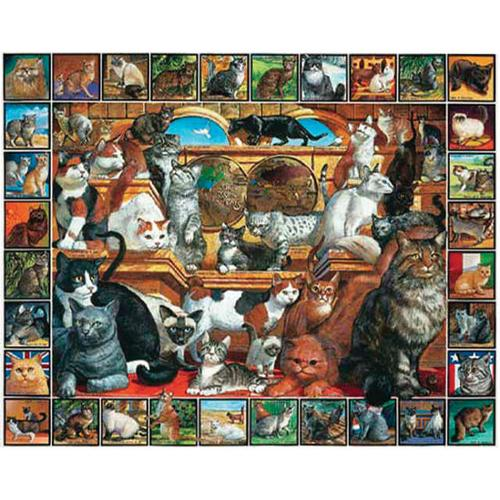 """Loveable Pets Collection Jigsaw Puzzle 1000 Pieces 24""""X30""""-The World Of Cats"""