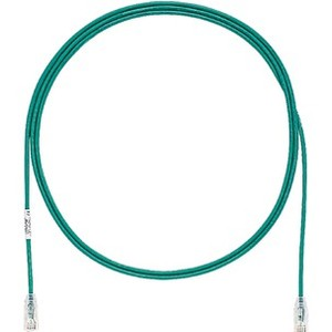Panduit 1ft Cat.6 UTP Patch Network Cable - Green, Clear