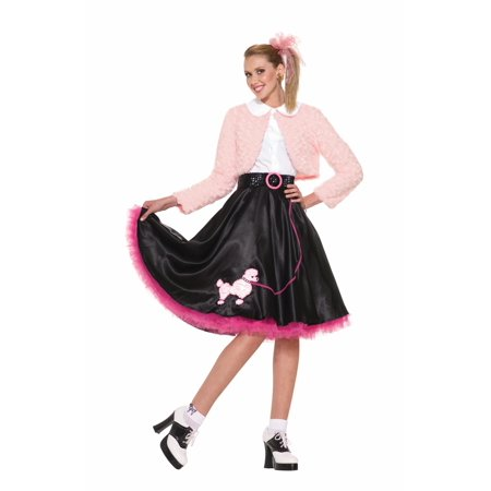 50's Sweetheart Deluxe Poodle Skirt Costume Set Adult Standard - 50 S Costumes