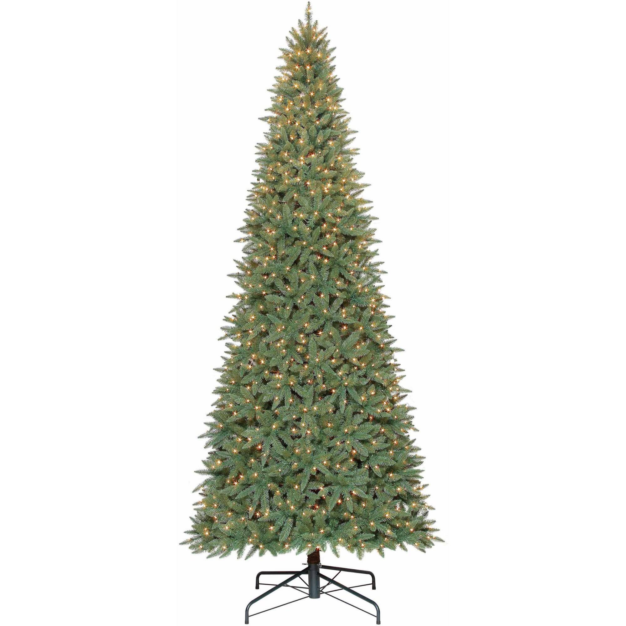 Slim white christmas tree with lights - Holiday Time Pre Lit 12 Williams Pine Artificial Christmas Tree Clear Lights Walmart Com