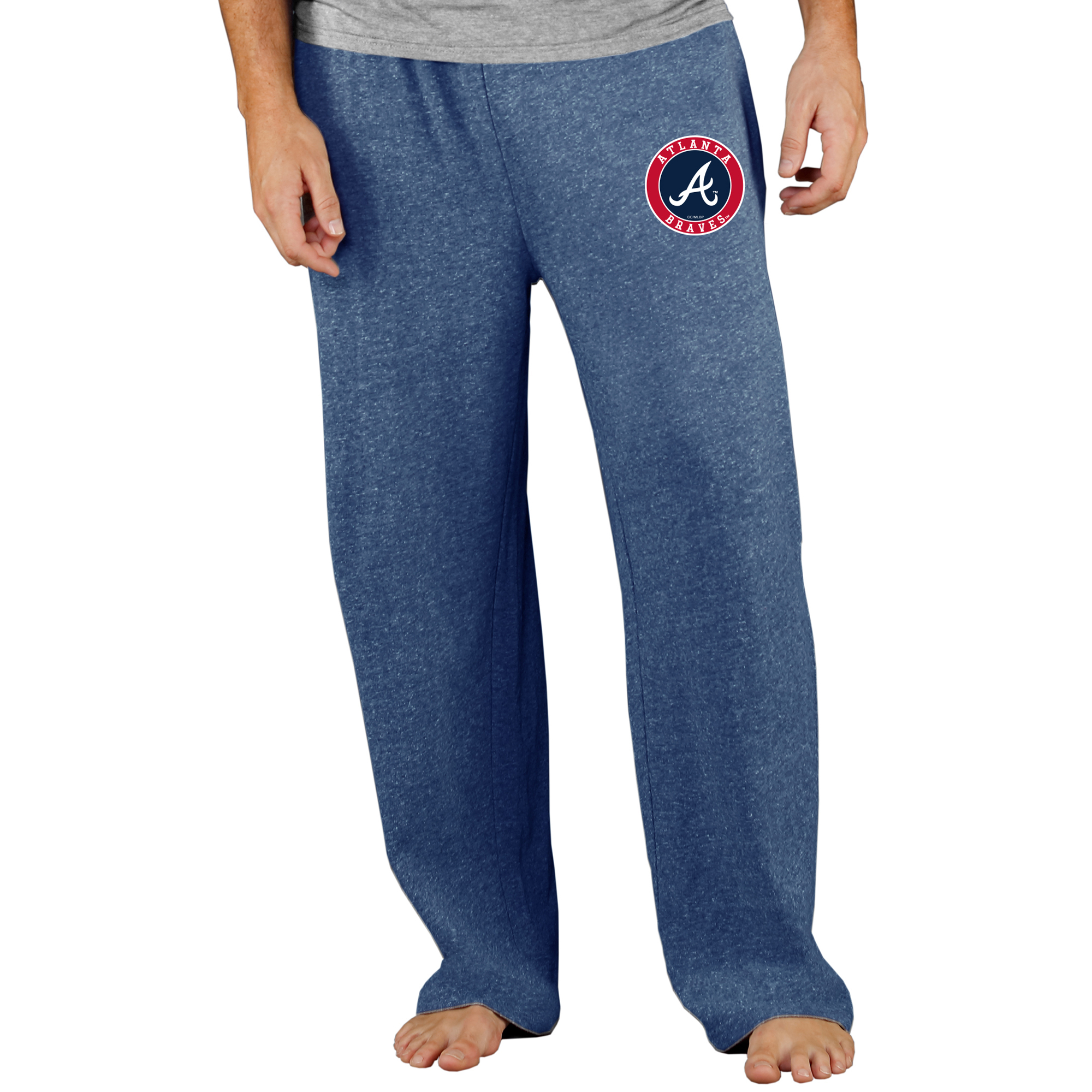 Atlanta Braves Concepts Sport Mainstream Terry Pants - Navy