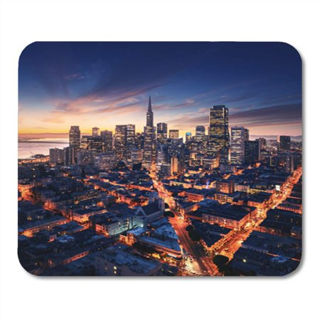 SIDONKU San Francisco Aerial View from Sea Side Port Mousepad Mouse Pad Mouse Mat 9x10 inch