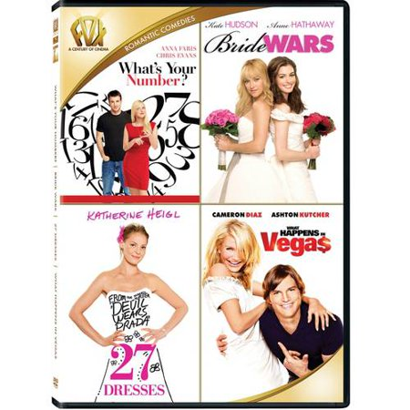 27 Dresses / Bride Wars / What Happens In Vegas / What's Your Number (DVD) - Movies Dress Up