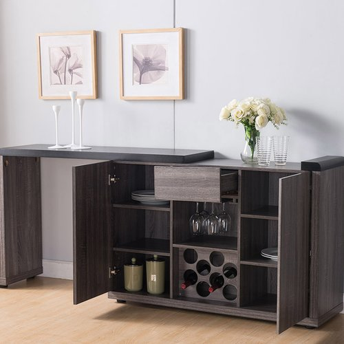 Latitude Run Waldrop Buffet Table With Extendable Table Top