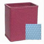 Redmon S426SB Sky Blue Chelsea Collection Square Wastebasket
