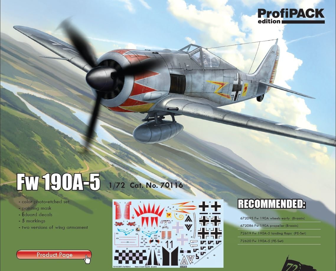 Eduard Accessories 72620 Fw 190A-5 for Eduard in 1:72
