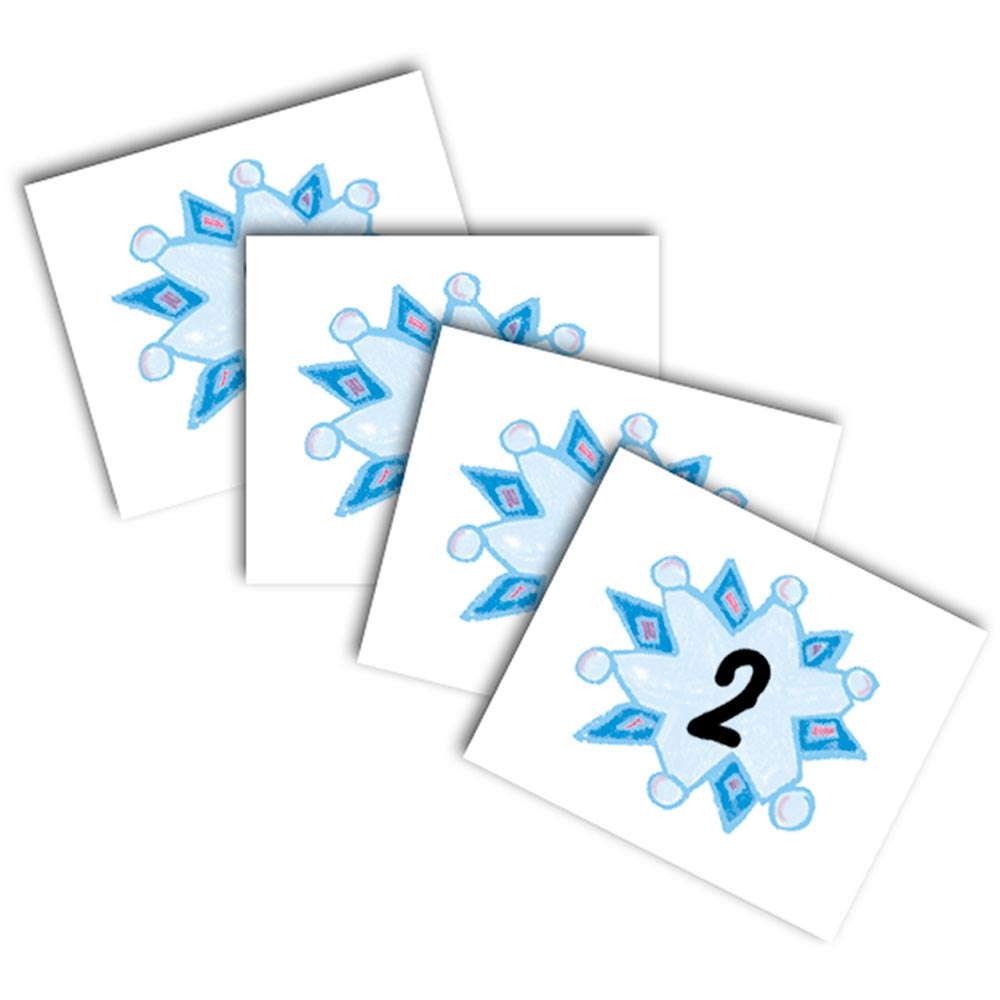 CD-5423 - Calendar Cover-Ups Snowflakes 36Pk Kid-Drawn by Carson Dellosa