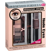 Physicians Formula Shimmer Strips Custom Eye Enhancing Makeup Kit, 6206 Nude Eyes, 13 pc