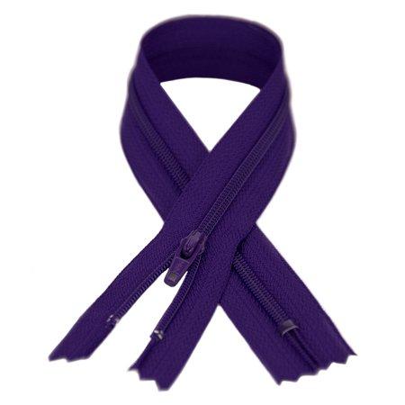 - YKK #3 Coil Zipper, 7 inch length, Royal Purple 029