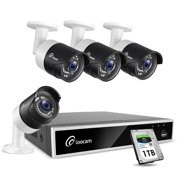loocam 8ch 1080p hd-tvi video dvr security camera system 4x 2.0 mp(1920x1080p) surveillance camera kit 1tb hard drive, motion detection & email alert, intuitive android & ios app