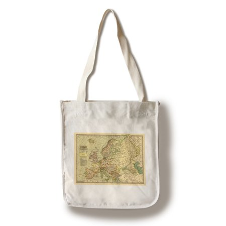 Europe    1897    Panoramic Map  100  Cotton Tote Bag   Reusable