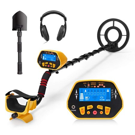 URCERI GC-1028 Metal Detector High Accuracy Waterproof 2 Modes Outdoor Gold Digger with Sensitive Search Coil LED Display for Beginners Professionals Garrett metal