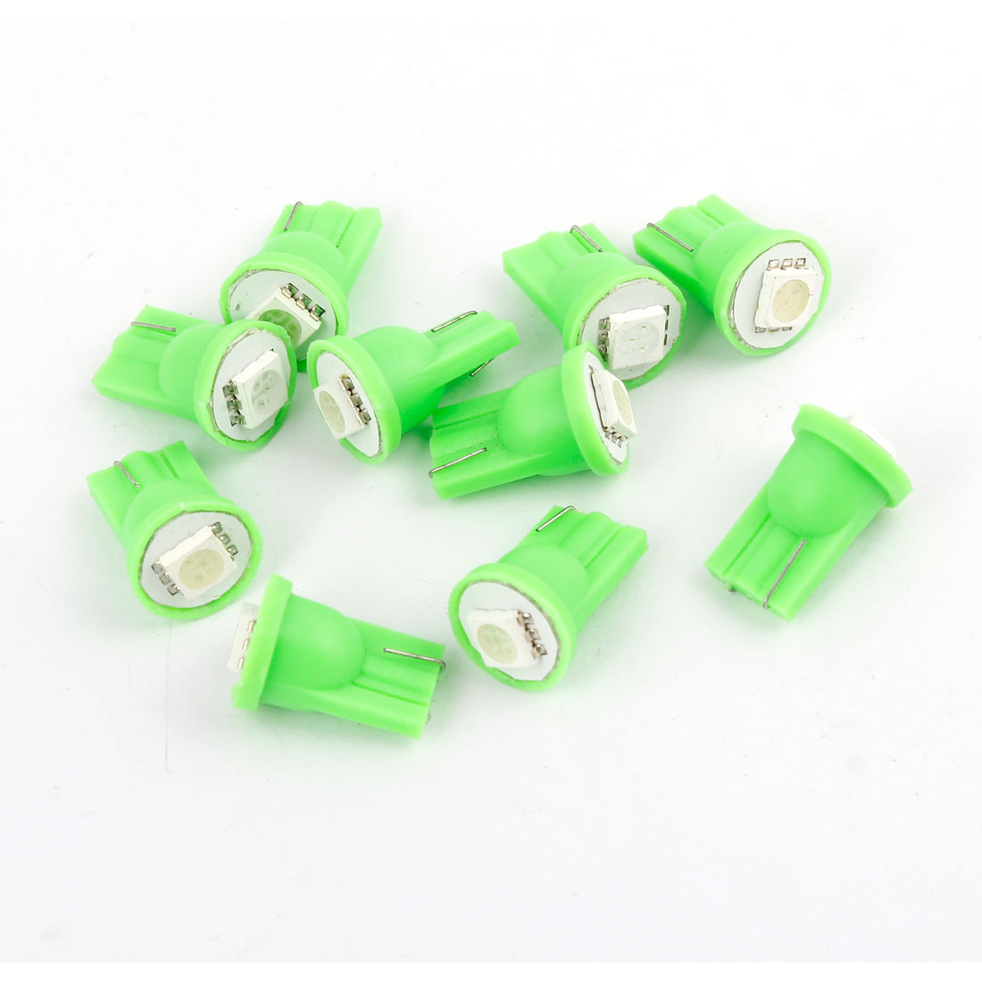 Vehicls T10 904 168 W5W Green 5050 SMD  Dashboard Light lamp Bulbs 10 Pcs