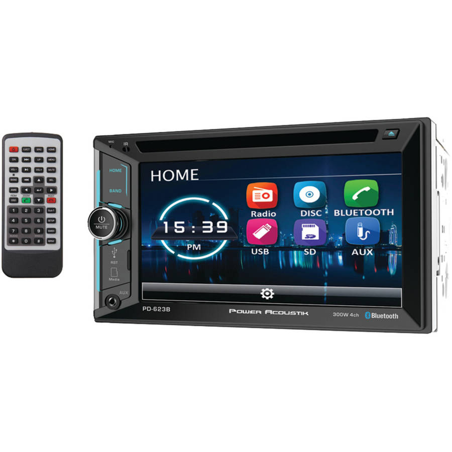 "Power Acoustik PD-623B 6.2"" Incite Double-DIN In-Dash DVD Receiver with Bluetooth"