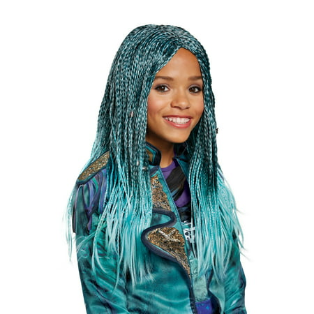 Party City Blue Wig (Disney Descendants Uma Isle of the Lost Child Wig Halloween Costume)