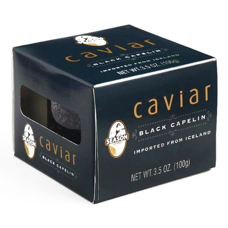 Season Black Capelin Caviar 4 Pack 3.5 oz each (1 Item Per Order, not per case)