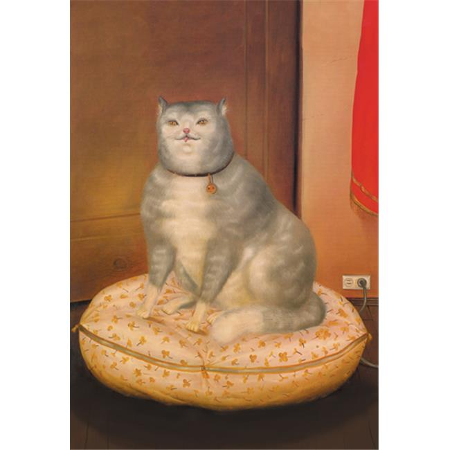 Buy Enlarge 0-587-01622-1P20x30 Grey Cat on a Pillow- Paper Size P20x30