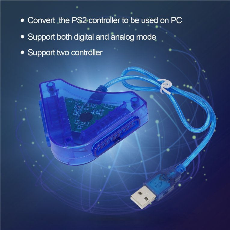 Joypad Game USB Dual Player Converter Adapter Cable For PS2 Attractive Dual Playstation 2 PC USB Game Controller Wholesale